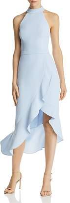 Aqua Ruffled Midi Halter Dress - 100% Exclusive
