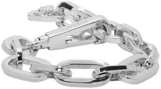 Versace Silver Chain Bracelet $425 thestylecure.com