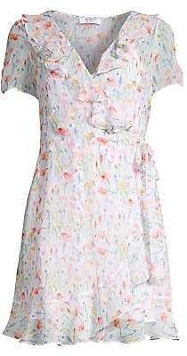 Bailey 44 Women's In The Clouds Floral Ruffle Short Sleeve Dress