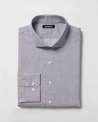Express Extra Slim Fit Checked Dress Shirt