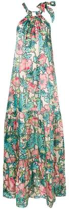 Cavallini Erika floral print long dress