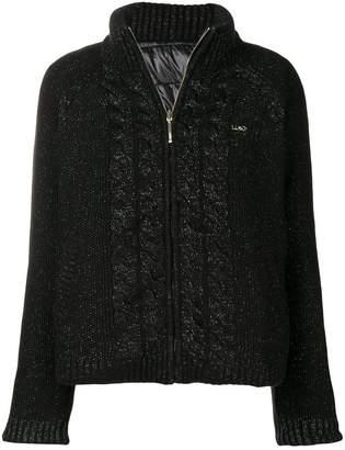 Liu Jo cable knit zipped jumper