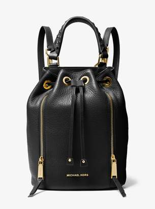 MICHAEL Michael Kors Viv Medium Pebbled Leather Bucket Backpack
