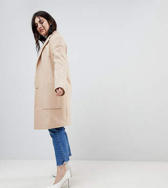 Asos Crepe Pocket Detail Coat