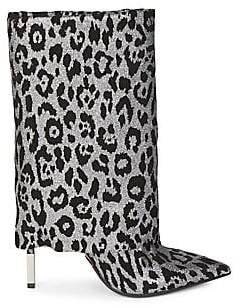 Balmain Women's Babette Leopard Booties
