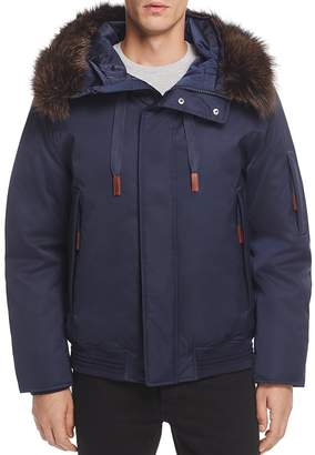 Andrew Marc Alpine Hooded Bomber Jacket