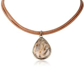 "Barse Feldspar"" Teardrop Chain Necklace"