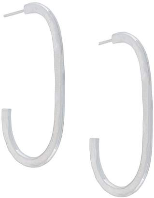 Maya Magal oval hoop earrings