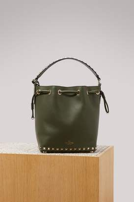Valentino Rockstudj small bucket bag