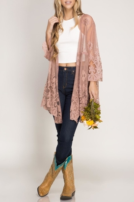 She + Sky Lace Kimono Cardigan $52 thestylecure.com