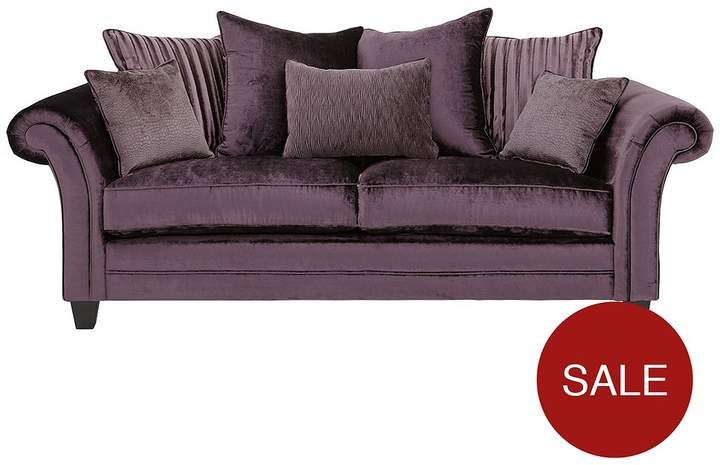 Luxe Collection Glamour 3-Seater Fabric Sofa