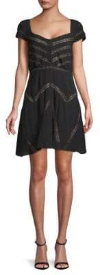 Free People Elle Cap-Sleeve Mini Dress