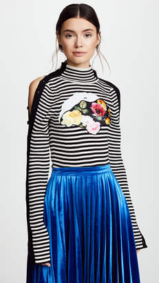 Preen by Thornton Bregazzi Tansy Striped Knit with Applique