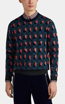 Paul Smith Men's Geometric-Patterned Wool-Blend Sweater