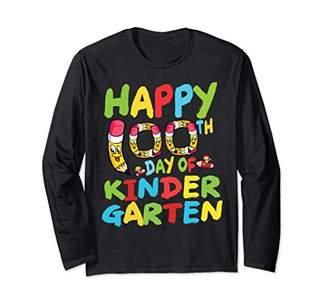 Happy 100th Day Of School Kindergarten Long Sleeve Shirt