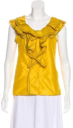 Oscar de la Renta Silk Sleeveless Top