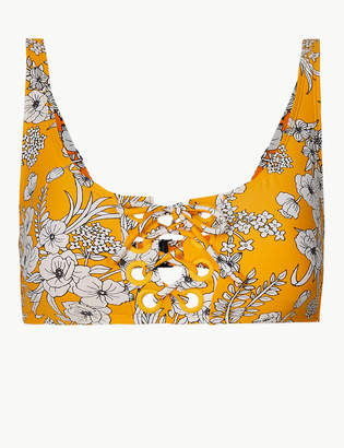 Marks and Spencer Floral Print Lace-Up Bikini Top