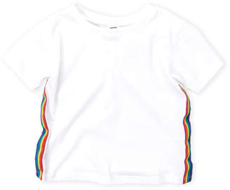 Erge Toddler Girls) Rainbow Stripe Tee