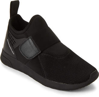 Wesc Black Mesh Knit Slip-On Sneakers