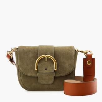 J.Crew Crossbody buckle bag in Italian suede