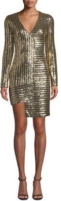 Ryse Erikka Sequined Long-Sleeve Cocktail Dress