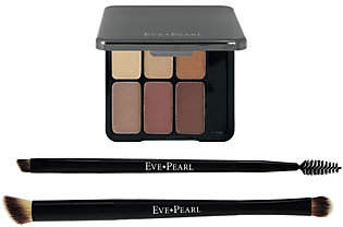 EVE PEARL 3-Piece Au Natural Eye Palette & 2Double Brushes