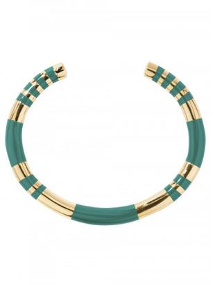 Aurelie Bidermann striped cuff bracelet $295 thestylecure.com