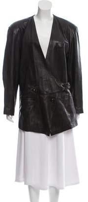 Issey Miyake Leather Oversize Jacket