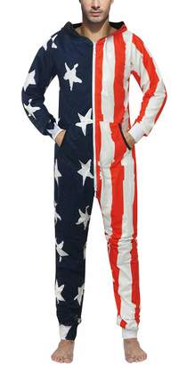 GO Onesie Cosplay Costume American Flag Jumpsuit Comfy USA Clothing Long  Sleeves 7e4e37527
