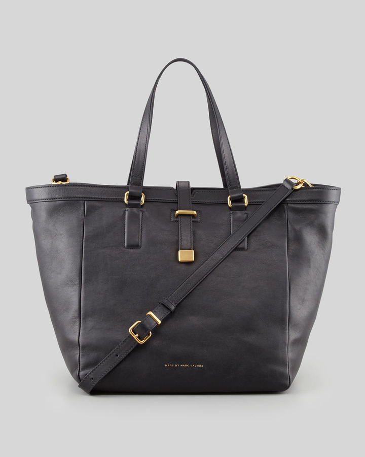 Marc by Marc Jacobs Natural Selection Leather Tote Bag, Black