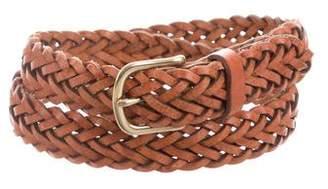 Rag & Bone Braided Leather Buckle Belt