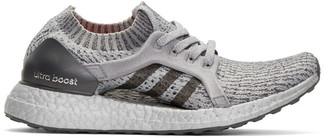adidas Originals Grey UltraBOOST X LTD Slip-On Sneakers $200 thestylecure.com