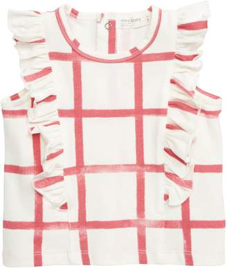 miles baby Check Flutter Top