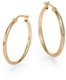 Saks Fifth Avenue 14k Yellow Gold Hoop Earrings 0 75 Inches