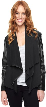 Mixed Media Jacket $178 thestylecure.com