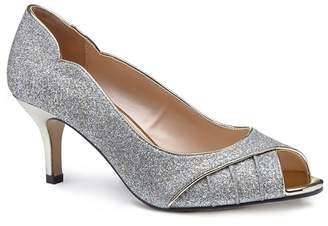 outlet factory outlet Gold glitter 'Carey' mid heel stiletto peep toe shoes with credit card free shipping 7vFiwsq