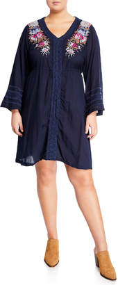 a2ddcbdc1 Johnny Was Pascal Bell-Sleeve Dress Plus Size