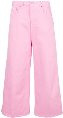 MSGM cropped wide leg jeans