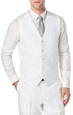 Perry Ellis Big and Tall Linen and Cotton Suit Vest
