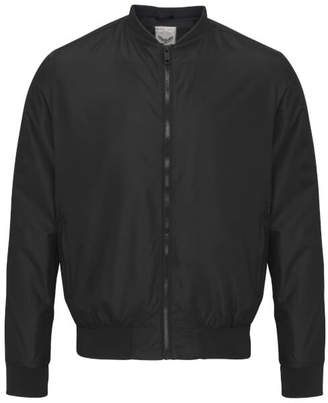Brave Soul Men's Sanjay Bomber Jacket - Black