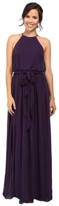 Donna Morgan Alana Drape Blouson Gown Women's Dress