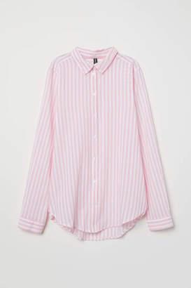 H&M Cotton Shirt - Khaki green - Women