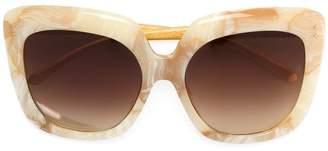 Linda Farrow marble effect oversized sunglasses