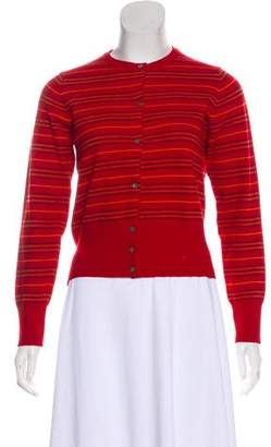 Burberry Wool Long Sleeve Cardigan