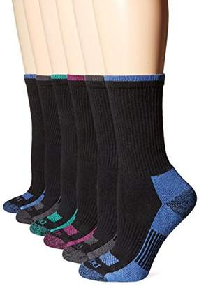 Dickies Women's Dritech Advanced Moisture Wicking Crew Sock 6-Pack