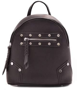 Missy Empire Missyempire Lillie Black Diamante Stud Backpack