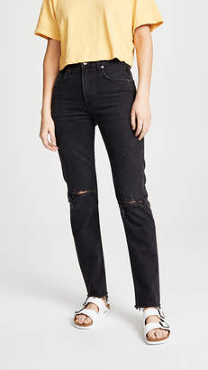 A Gold E AGOLDE Cherie High Rise Straight Jeans