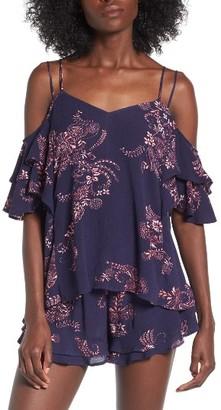 Women's Sun & Shadow Cold Shoulder Top $45 thestylecure.com