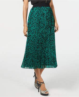 Thalia Sodi Pleated Midi Skirt