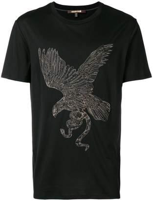 Roberto Cavalli embellished eagle T-shirt